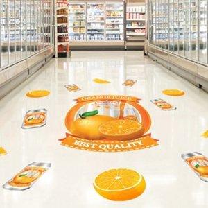מדבקות רצפה