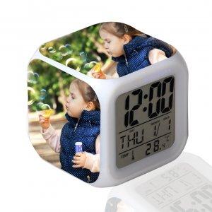 שעון מעורר תאורה מתחלפת 3 תמונות אישיות