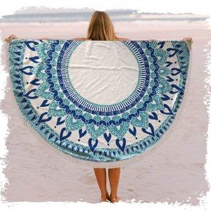 מגבת חוף עגולה גדולה
