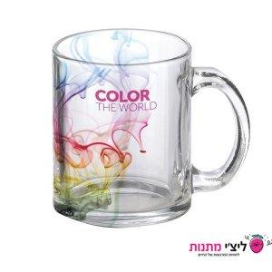 כוס זכוכית שקופה
